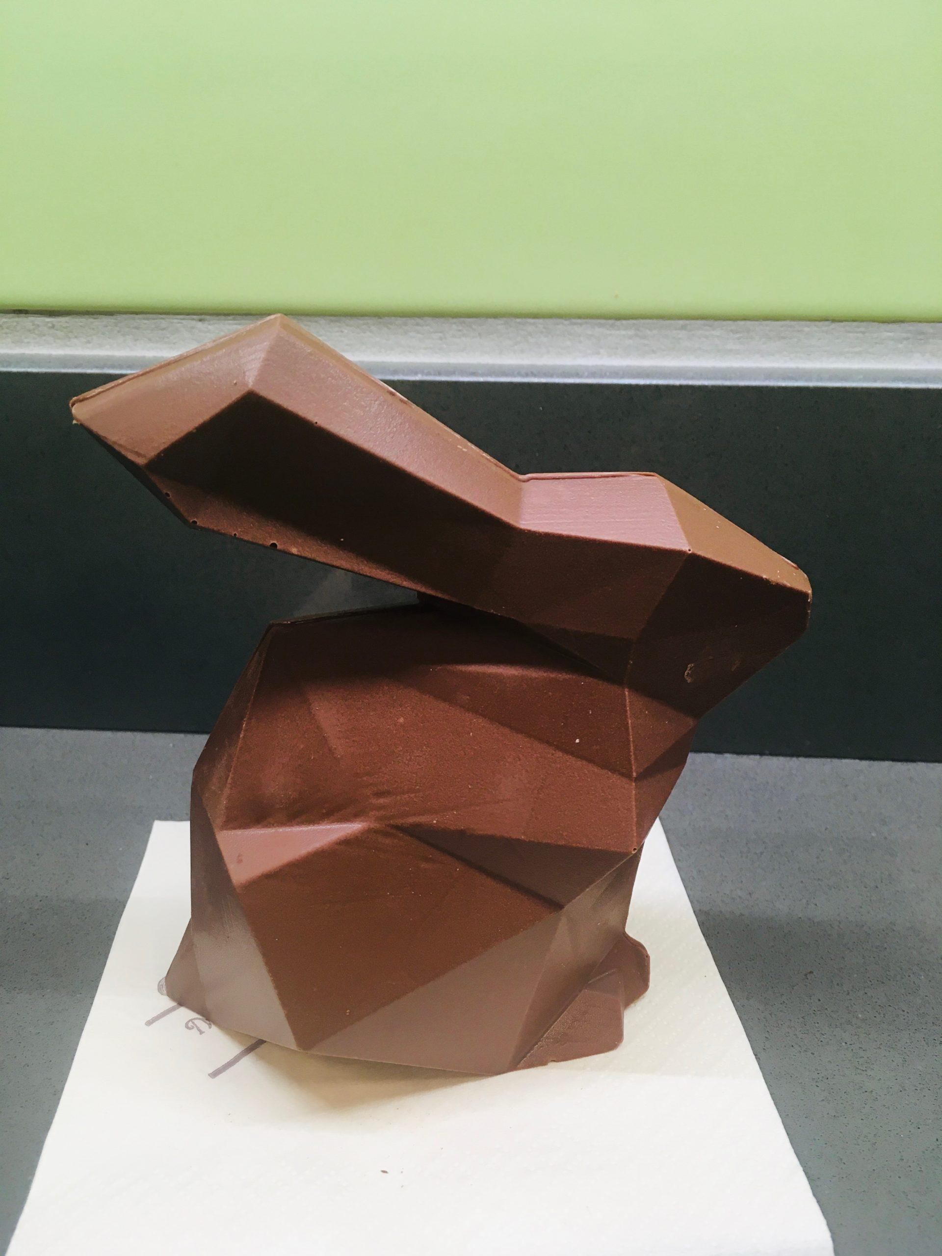 Sujet lapin origami lait